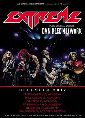 Extreme and Dan Reed Network tour December 2017