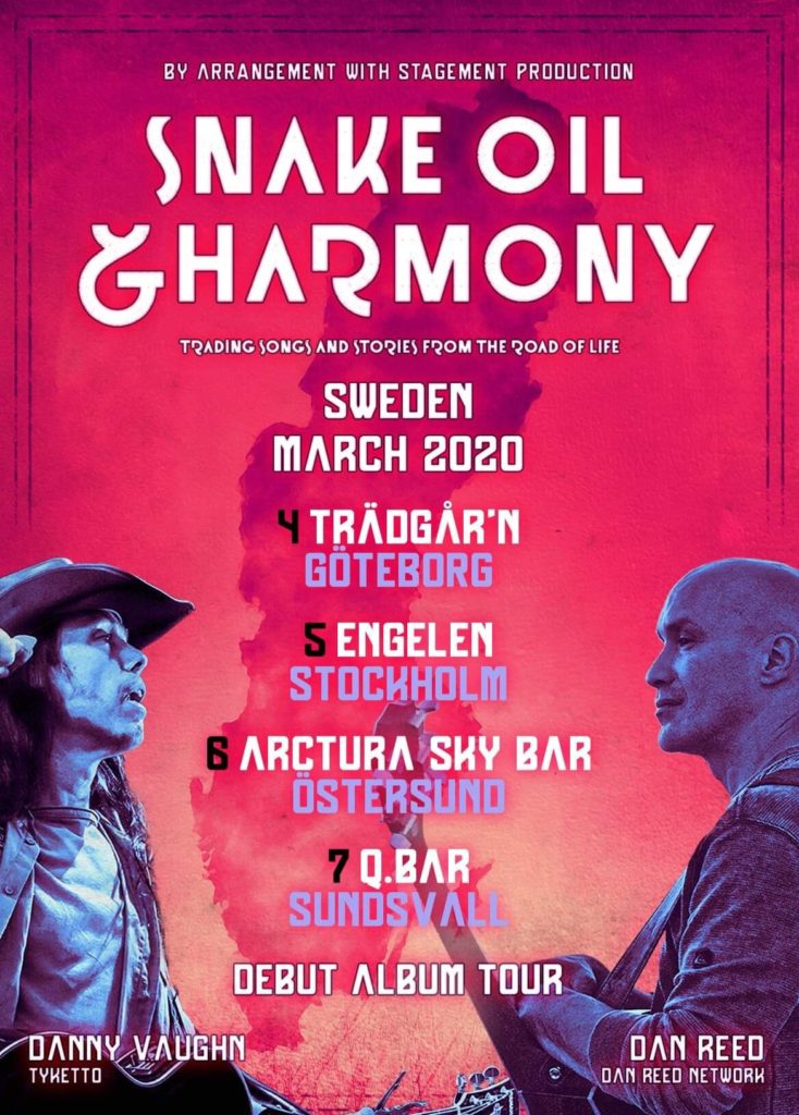 CANCELLED : Snake Oil & Harmony @ 'Trädgår'n', Göteborg, Sweden